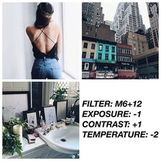 Clean filter. This filter is good for feed, works well with everything! Suggested pics: interior, urban snaps, plant #vsco#vscocam#vscofilter #vscofiltrrm6