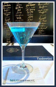 Nothing like having a Yankeetini at the NYY Steak House, but here's a version you can make for yourself at home!