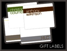 """Crazed at the office...stuck in traffic...no time to stop for a card...                             SIMPLIFY.    A quick note and a quick stick and you are good to go.    A personalized Gift Label can make any gift look good    and gets you off the hook for wrapping.       *These labels measure 3.25"""" x 4""""  *23 labels per pack!          Waterproof Option! If your labels will adorn a gift of white wine for a hostess, or you are entertaining at home with chilled wine or champagne on ice, we can…"""