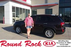 https://flic.kr/p/HS7TQq | Happy Anniversary to Jacquelyn on your #Kia #Sorento from Dan Helmreich at Round Rock Kia! | deliverymaxx.com/DealerReviews.aspx?DealerCode=K449