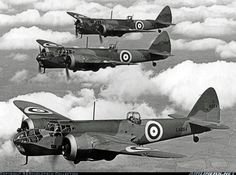 Poster Print-Three Bristol Blenheim IVs in poster sized print mm) made in the UK Navy Aircraft, Ww2 Aircraft, Military Aircraft, Poster Prints, Framed Prints, Canvas Prints, Posters, Bristol Blenheim, Bristol Beaufighter