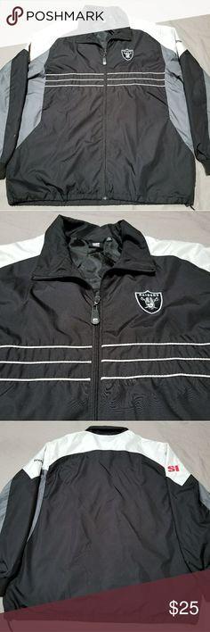 Raiders Windbreaker Reebok Oakland Raiders windbreaker. Jacket is in excellent condition. Mens XL. Motivated seller! Reebok Jackets & Coats