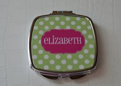 Personalized Compact Mirror Teacher Gift by LoveyDoveyCreations