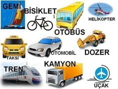 Vehicles in Turkish Learn Turkish Language, Arabic Language, Turkish Lessons, Turkic Languages, Professional School, Word Patterns, School Health, Learn English Words, Learning Arabic