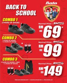 Bata Back to School Promotion Catalogue Power School, Fashion Sale, Back To School, Promotion, Catalog, How To Apply, Brochures, Entering School, Back To College
