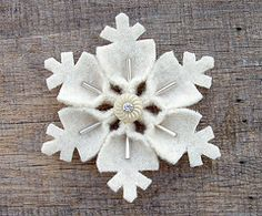 Felt snowflake--making with some of my felt scraps with a field trip group next week :)