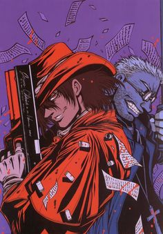 Looking for information on the anime or manga character Alucard? On MyAnimeList you can learn more about their role in the anime and manga industry. Hellsing Alucard, Comic Manga, Anime Comics, Manga Anime, Anime Art, Black Butler, Castlevania Anime, Seras Victoria, Chihiro Y Haku