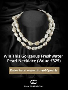 Gorgeous Freshwater Pearl Necklace #giveaway. To get a chance to win, click the image or go here: http://www.glamconfidential.com/versilia/