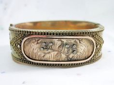 Antique Victorian Peacock Bracelet Bangle Birds by WickedDarling on Etsy