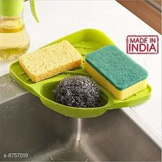 Soap Dishes Frekich Plastic Multipurpose Kitchen Sink Wash Basin Storage Organizer Corner Tray Rack (Pack Of 1) Material: Plastic Pack: Pack of 1 Product Length: 10.5 cm Product Breadth: 18 cm Product Height: 5 cm Country of Origin: India Sizes Available: Free Size   Catalog Rating: ★3.9 (1512)  Catalog Name: Classic Soap Dishes CatalogID_1495596 C132-SC1585 Code: 041-8757019-702