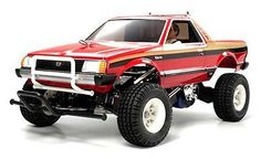 TECH NOTES This is the electric powered, radio controlled 1/10 scale Tamiya Subaru Brat Truck Kit. FEATURES: Chassis: ABS resin space Black in color (production kit does not have chrome chassis) Drive