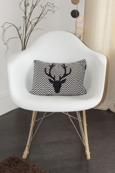 Coussin tête de cerf Home made