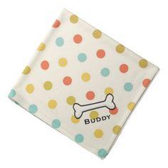 Dog's Vintage Polka Dot Custom Bandana