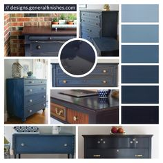 Choose the beach house look for your home accessories with General Finishes Coastal Blue Milk Paint! Coastal Blue is a rich, deep color that reflects the depths of the ocean and represents old style, first period homes. This perfect shade of blue will add Coastal Colors, Coastal Decor, Lake Decor, Java Gel Stains, Blue Chalk Paint, Chalk Paint Furniture, Blue Painted Furniture, Gothic Furniture, Furniture Cleaning