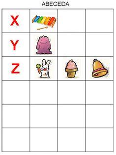 Pro Štípu Alphabet Book, Preschool Themes, Matching Games, Pre School, Toddler Activities, Montessori, Literacy, Kindergarten, Homeschool