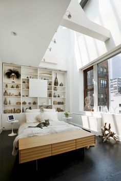 Tribeca Apartment by David Howell Design | Bedroom.