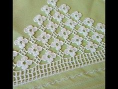 Dantel uç modelleri&crochet - YouTube Crochet Edging Patterns, Crochet Borders, Lace Patterns, Knitting Patterns, Crochet Cap, Crochet Shawl, Fillet Crochet, Crochet Tablecloth, Crochet Videos