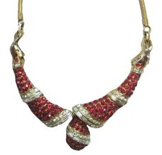 #Vintage #1930s #COROCRAFT #Red #Rhinestone #Necklace now at www.Jeweldiva.com
