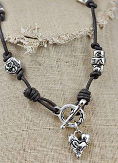 Loving Kindness Necklace-Handcrafted Jewelry-Handmade Necklaces-Island Cowgirl Jewelry-Handmade Silver Heart Jewelry- Designer Heather Kraty...