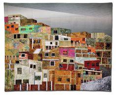 Hilde Morin : El Cerro ... fantastic sky, quilting, composition, colors ... wow