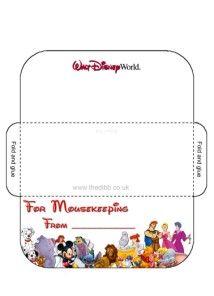 Mousekeeping envelope templates!