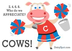 Everyday is Cow Appreciation Day - thank a cow today and the farmers who take care of them 365 days a year. http://agsource.crinet.com/ @emmaleigh95