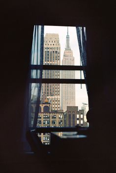 Window View - Empire State Building, New York.