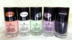 Floral Grunge Collection: Be Flowerful (the shine), Lily Bloom (the pearl), Grunge Me Tender (the suede), Madly Purpled (the matt), Black To The Roots (the rough)