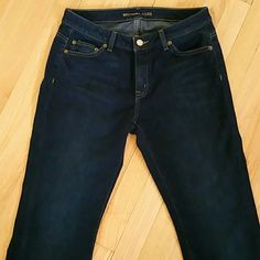 MICHAEL KORS bootcut jeans dark size 4 !!! Michael Kors stretch jeans, 98%Cotton, 2%Spandex. 32 inches inseam. Looking like new, only on the bottom of the legs there is some minor distress shown on the last picture Michael Kors Pants Boot Cut & Flare