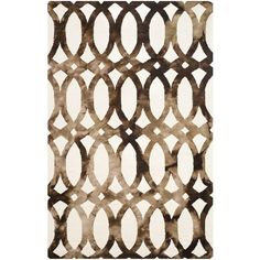 Safavieh Dip Dye Ivory/Chocolate 8 ft. x 10 ft. Area Rug - DDY675E-8 - The Home Depot