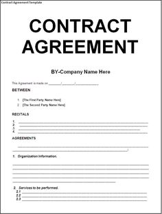 contract agreement sample