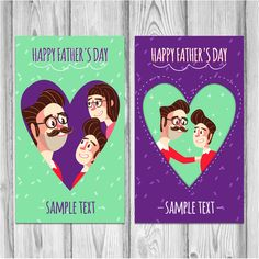Happy Father day Family Poster On The Wall Vectors