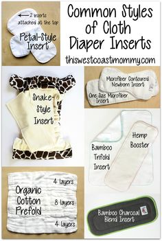 Which cloth diaper inserts, doublers, or liners should I choose? Common styles of cloth diaper inserts.
