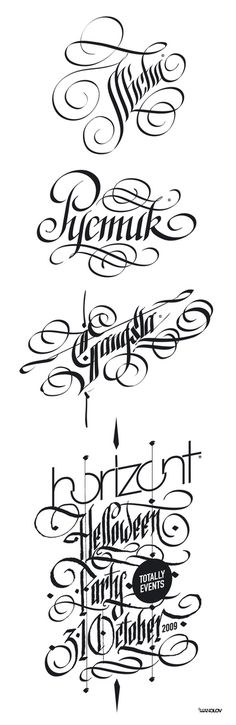 Digital Calligraphy by Ivan Manolov, via Behance Gothic Lettering, Tattoo Lettering Fonts, Graffiti Lettering, Brush Lettering, Lettering Design, Hand Lettering, Calligraphy Text, Calligraphy Alphabet, Typography Letters