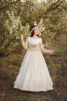 Niñas de Comunión | Alba Soler Photography – Fotografía infantil Xàtiva – Valencia. Girls Dresses, Flower Girl Dresses, Valencia, Wedding Dresses, Floral, Photography, Fashion, Dress Girl, Wedding Gowns