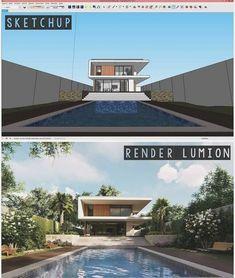 architecture portfolio examples for undergraduate Sketch Up Architecture, Revit Architecture, Architecture Visualization, Architecture Portfolio, Autocad, Rendering Interior, 3d Max Tutorial, Sketchup Rendering, Architecture Presentation Board