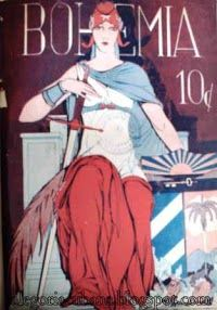 Una portada clásica de Bohemia en 1928.