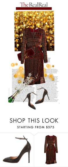 """""""Holiday Sparkle With The RealReal: Contest Entry"""" by theitalianglam ❤ liked on Polyvore featuring Valentino, Altuzarra and Louis Vuitton"""