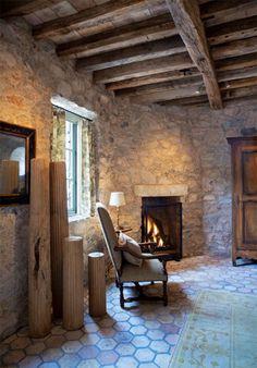 <3 textures - Stone Cottage - Farm interior.