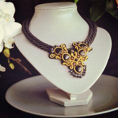 Necklace #handmade #soutache Princess of the Night