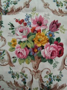 vintage Sanderson linen from nostaligiaatthestonehouse
