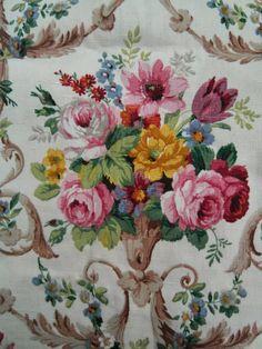 vintage Sanderson linen