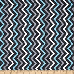 Michael Miller Mini Chic Chevron Gray from @fabricdotcom  Designed for Michael Miller Fabrics, this fabric is perfect for quilting, apparel and home décor accents.  Colors include aqua, grey and charcoal and white.