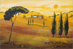 Christine Huwer - Sonnenschein am Morgen in der Toskana / Sunshine  in Tuscany in the Morning
