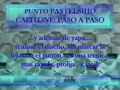 ALMOHADON PASTELCITO PASO A PASO EN CAPITONÉ - YouTube
