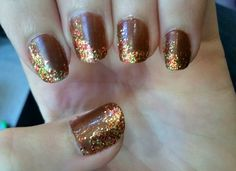 Autumn Nail Art: Gold Autumn Nail Art Design Ideas ~ Nail Art Inspiration