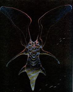 Concept art for the movie Abyss by Moebius