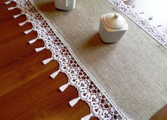 Burlap Table Runner   Wedding runner by MadeInBurlap on Etsy, $25.00