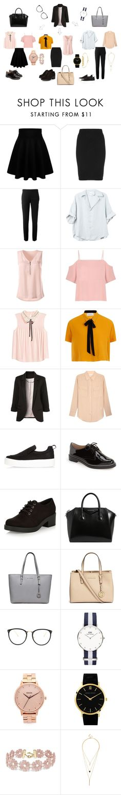 """""""School time"""" by daryan090200 on Polyvore featuring мода, Manon Baptiste, Chloé, T By Alexander Wang, Elvi, Equipment, River Island, Vince Camuto, New Look и Givenchy"""