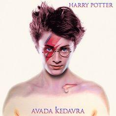 Harry Potter and David Bowie - Aladdin Sane mash up.